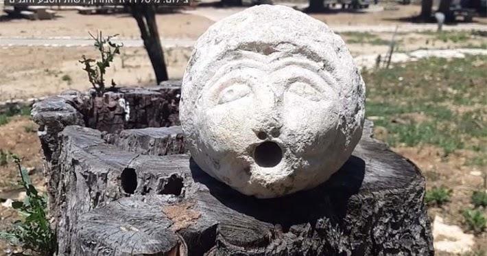 Hallan en Israel un misterioso rostro de piedra al que se alude en el Talmud