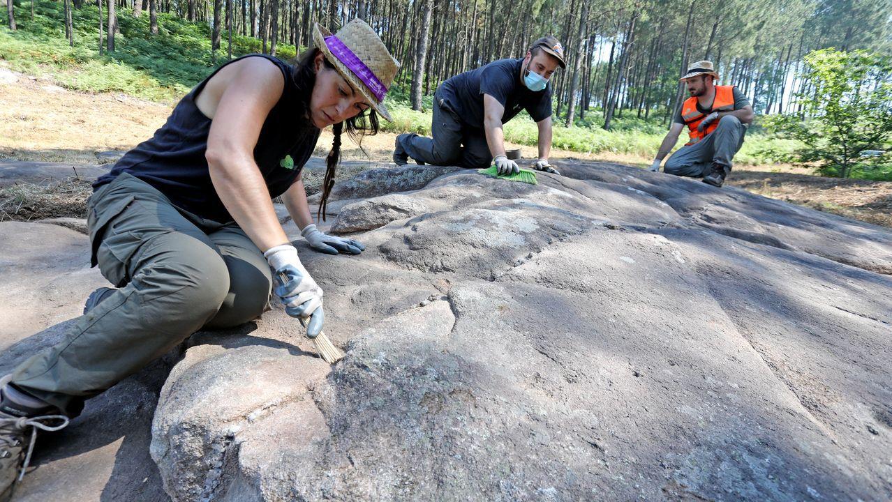 Tui (Pontevedra) descubre un legado prehistórico de arte rupestre con trece petroglifos